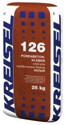 Кладочная смесь PORENBETONKLEBER WEISS 126