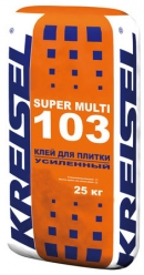 Клей для плитки усиленный SUPER MULTI 103