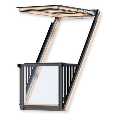 Окно-балкон velux cabrio. купить мансардные окна по выгодной.
