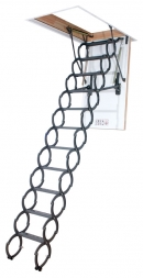 Металлическая ножничная чердачная лестница LST